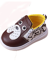 Baby Sneakers Spring Summer Fall Comfort First Walkers Light Soles PU Casual Flat Heel Brown Red