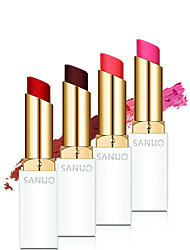 1Pcs New Brand Makeup Genuine Sanuo Memebox Romantic Cherry Waterproof Matte Lipstick Moisturize Pink Lip Sticks Cosmetic