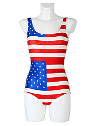 The New American Flag Digital Printed One-piece Swimsuit