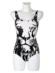 Spring And Summer Cartoon Tiger Head Digital Print Swimsuit