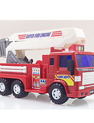 Fire Engine Vehicle Pull Back Vehicles 1:28 Metal Plastic Red
