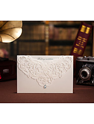 Personalizado Dobrado no Topo Convites de casamentoCartões de convite Cartões de Aniversário Convites para Festas de Noivado Conjuntos de