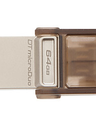 Kingston dtduo 64gb usb 2.0 unidad flash otg micro usb mini ultracompacto
