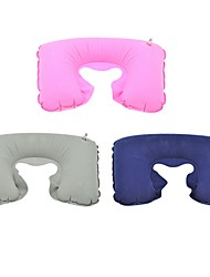 1Pcs 26Cm*44Cm   Functional Inflatable U Shaped Pillow Car Head Neck Rest Air Cushion For Travel   Random  Color