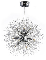 Personality Chandelier Crystal Living Room Multicolor Remote Control Pendant G9 Light Source Pendant Lamp