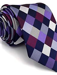 Mens Necktie Tie Multicolor Checked 100% Silk Business Fashion For Men