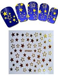 1sheet  Gold Nail Stickers XF6061
