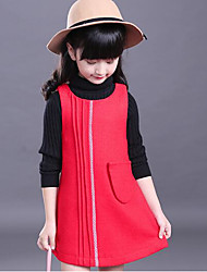 Girl Casual/Daily Solid Blouse,Silk Winter 3/4 Sleeve Regular