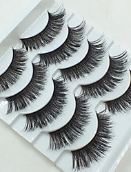 5 Pairs Makeup Thick False Eyelashes Eyelash Cross Naturally Slim False Eyelashes Sexy Thick Stage Makeup Smoked Big Eyes Fake Eyelashes