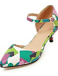 Sandals Spring Summer Fall Other PU Dress Casual Party & Evening Low Heel Others Green Red Gray Other