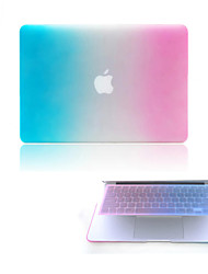 "Case for Macbook Pro 13""/15"" with Retina display Color Gradient Plastic Material Hard Protective Matte Full Body Case + Keyboard Cover"
