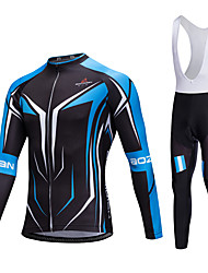AOZHIDIAN Spring/Summer/Autumn Long Sleeve Cycling JerseyLong Bib Tights Ropa Ciclismo Cycling Clothing Suits #AZD094