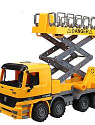 Baufahrzeuge Pull Back Fahrzeuge 1:24 Plastik Metall Gelb