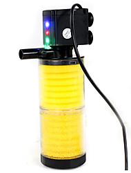 Aquarium Filtre Ajustable Plastique AC 220-240V