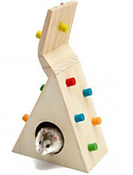 Rodents Hutches Climbing Toy Wood Multicolor