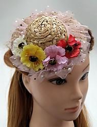 Women's Headpiece-Wedding Special Occasion Fascinators Flowers Hats Wreaths 1 Piece
