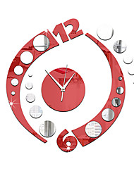 Acrylic 3D DIY Mirror Sticker Wall Clocks Novelty Home Decor  Vintage Watch Wall For Living Room