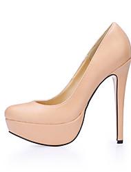 Women's Heels Spring Fall Comfort PU Office & Career Dress Stiletto Heel Skin