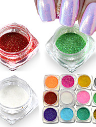 New Mermaid Effect Chrome Pigment Powder Laser Silver White Nail Art Mirror Powder Mermaid Decorations M01-12