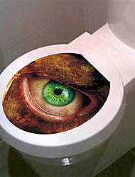 Abstract 3D Green Eyes Decorative Wall Stickers Toilet Stickers Home Decoration Wall Decal