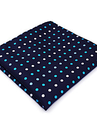 BH24 Mens Hanky Navy Blue Polka Dot 100% Silk Business Casual Jacquard New For Men