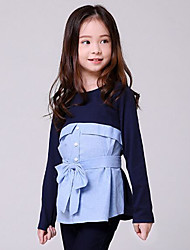 Girl Casual/Daily School Solid Blouse,Rayon Winter Fall Half Sleeve Regular