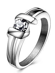 Ringe Kristall Party Alltag Normal Sport Schmuck Krystall Titanstahl Paar Statementringe Ring 1 Stück,6 7 8 9 10Wie in der Abbildung