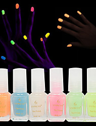 6pcs jalea de la manera resplandor esmalte de uñas esmalte de uñas luminosa