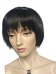 Synthetic Wig Natural Black Short Bob Straight Cosplay Costume Women's Party Hairstyle