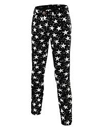 Hommes Ample Mince Chino Pantalon,simple Actif Punk & Gothic Décontracté / Quotidien Plage Vacances Imprimé Taille Normalefermeture