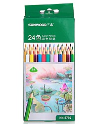 Sunwood®  5792 24 Color Pencil 24Pcs/ Box