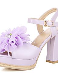 Homme-Bureau & Travail Habillé Soirée & Evénement-Bleu Rose Violet Blanc-Gros Talon-Autre-Chaussures à Talons-Similicuir