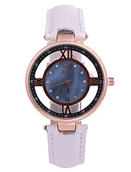 Women's Dress Watch Fashion Watch Quartz / PU Band Casual Black White Brand