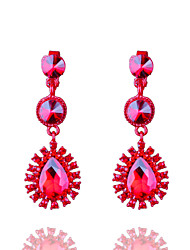 Europe And The United States Are Full Of Red Crystal Diamond Earrings
