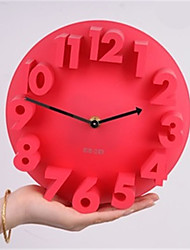 1pc Are The Three-Dimensional Digital Clock Creative Art Convex Fashion Clock Wall Clock