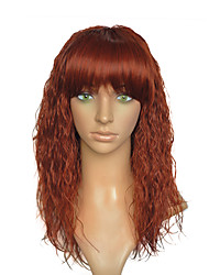 Kinky Curly Wig Synthetic Fiber Wig Blonde Red Party Cosplay Costume Women Wig With Cap