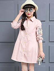 Girl's Print Dress,Cotton Spring Long Sleeve