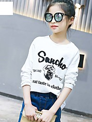 Girl's Han Edition Fashion Leisure Spring/Autumn Round Collar Printing Design Render Unlined Upper Garment Of A T-Shirt
