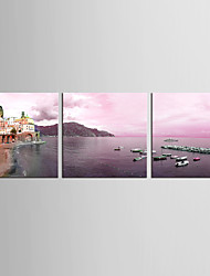 Canvas Set Landscape Abstract Landscape Classic Mediterranean,Three Panels Canvas Vertical Print Wall Decor For Home Decoration