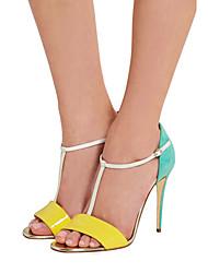 Damen-Sandalen-Kleid Lässig Party & Festivität-Lackleder-Stöckelabsatz-Andere-Gelb