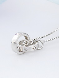 Necklace Non Stone Pendant Necklaces Jewelry Daily Casual Crown Fashion Sterling Silver Women 1pc Gift As Per Picture