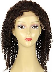 8a virgem cabeleira encaracolada brasileira rendas frente com frente de cabelo do bebê encaracolado do laço do cabelo humano rendas
