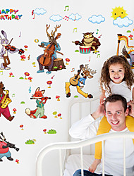 Happy Birthday Wall Stickers Cartoon Zoo Party Children's Wall Decals DIY Environmental Wall Stickers