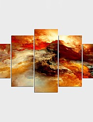 Stretched Canvas Print Abstract Style Classic,Five Panels Canvas Any Shape Print Wall Decor For Home Decoration
