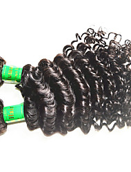 10a grade best quality indian virgin hair deep wave 3bundles 300g lot for one head unprocessed indian remy human hair black color