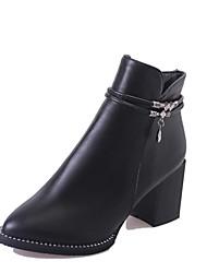 Для женщин Ботинки Удобная обувь Армейские ботинки Полиуретан Осень Зима Повседневные Для праздника Удобная обувь Армейские ботинки Молнии