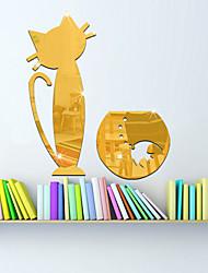 Животные Слова и фразы Зеркала Наклейки Простые наклейки Зеркальные стикеры Декоративные наклейки на стены,Стекло материал Украшение дома
