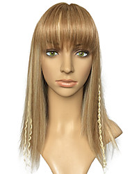 Women Wig Synthetic Fiber Wig With Neat Bangs Heat Resistant With Braid Cosplay Costume Women Wigs