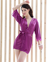 SKLV Women's Polyester Robes/Ultra Sexy/Suits Nightwear/Nightdress