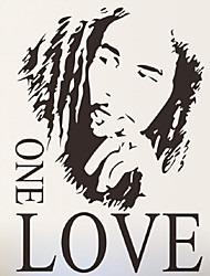 Bob Marley Famous Singer Wall Stickers One Love Quote Wall Decals For Kids